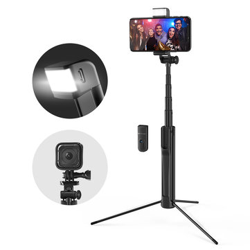 Blitzwolf BW-BS8 Extendable bluetooth Tripod Selfie Stick With LED Fill Light For Phone Sport CameraSmart Devices & AccessoriesfromMobile Phones & Accessorieson banggood.com