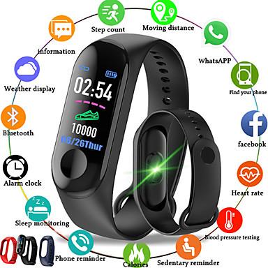 m3 smart sportowa bransoletka fitness tracker z pulsometrem wodoodporny krokomierz bluetooth dla Androida ios