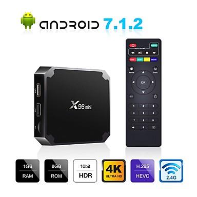 x96 mini android tv box x96mini android 7.1 smart tv box 2 gb 16 gb amlogic s905w quad core 2.4 ghz wifi android 9.0 1 gb8 gb