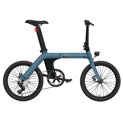 FIIDO D11 Folding Electric Moped Bicycle 20 Inches Tire 25km/h Max Speed Three Modes 11.6AH Lithium Battery 100km Range Adjustable Seat Dual Disc Brakes with LCD Display for Adults Teenagers - Blue