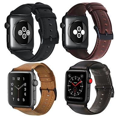 Watch Band na Apple Watch Series 5/4/3/2/1 Jabłko Bransoletka skórzana Prawdziwa skóra Opaska na nadgarstek